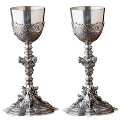 SET OF 2 SANTA CROCE PEWTER CHALICES