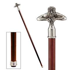 BACCHUS PEWTER WALKING STICK