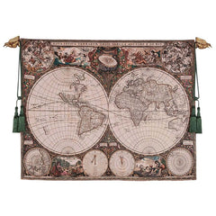 16TH CENTURY DUTCH WORLD MAP TAPESTRY