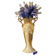 19th Century French Antique Replica Art Nouveau Gold Leaf Vase