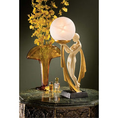"16"" Classic Desiree Art Table Lamp Lighted Sculpture 40 Watt Lamp"