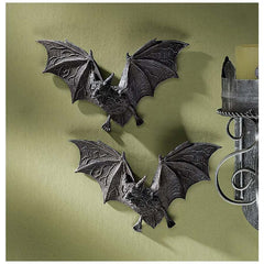Dungeon Vampire Bats Bird Wall Sculpture Statue Decor - Set of 2