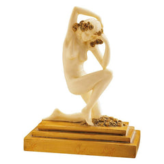 Art Deco Nude French Maiden Kneeling Desktop Table Statue Sculpture