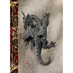 Medieval Gothic Wall Dragon Sculpture Statue Figurine