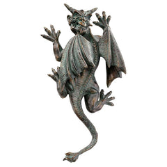 "13"" Classic Gothic Winged Dragon Gargoyle Wall Sculpture Statue Figurine"