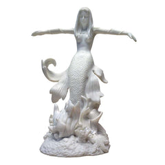Mythical Mermaid Bonded Marble Resin Statue