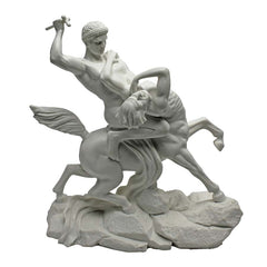 "Muscled Warrior ""Centaur"" Bonded Marble Statue"