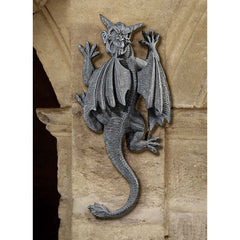 "18"" Medieval Gothic Dragon Gargoyle Wall Sculpture Statue Figurine Decor"