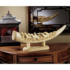 Remarkable Galloping Horses Ivory Sculpture