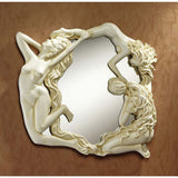 "11.5"" Classic Nude Female Dancer Mirror Wall Sculpture Statue Décor"