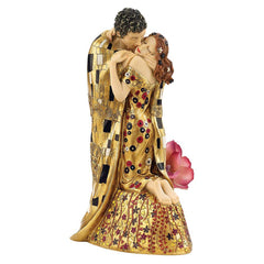 "13"" Art Nouveau Enraptured Passionate Lovers Couple Newly Weds Statue Sculpture"