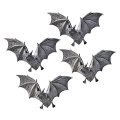 "4"" Classic Vampire Bats Decorative Wall Sculptures Decor - Set of 4"