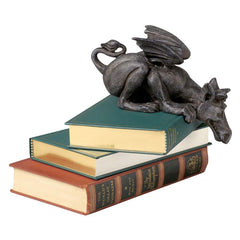 "3.5"" Classic Medieval Dragon Desktop Table Sculpture Statue - Set of 2"