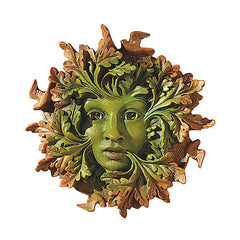 "8.5"" Mystical Greenwoman Home Garden Wall Sculpture Statue Figurine"