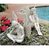 "10"" Twin Fairy Garden Statue Sculpture - Set of 2"