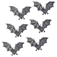 Classic Vampire Bats Decorative Wall Sculptures - Set of 6
