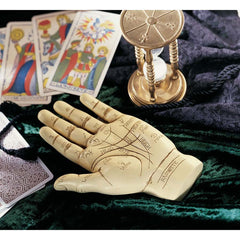 "8"" Victorian Antique Replica Biblical Palmist Hand Christian Collectible Scul..."