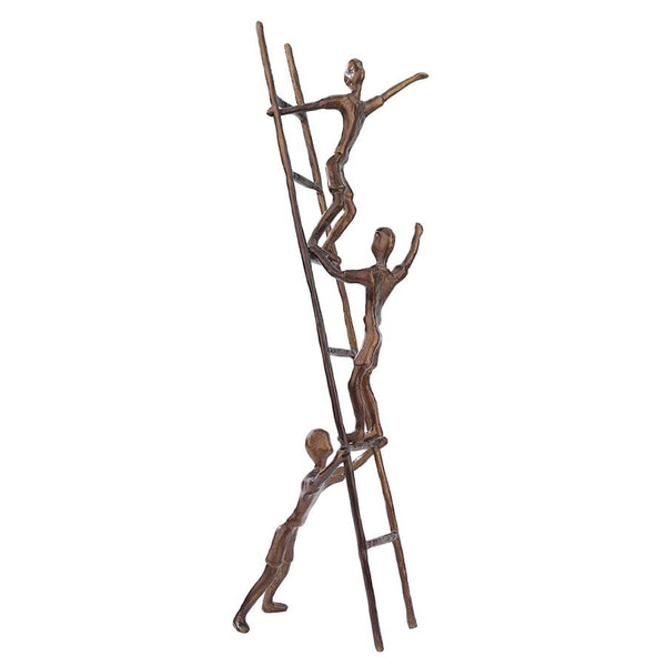 "26"" Contemporary Childhood Memories Art Up the Ladder Statue Sculpture Figurine"