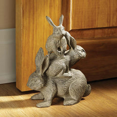 Classic Bunny Rabbit Cast Iron Rabbit Statue - Door Stop