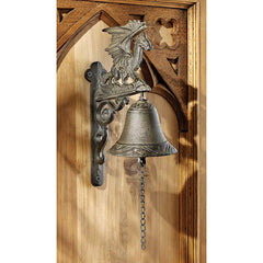 Classic Dragon Gothic Iron Bell: Set of Two