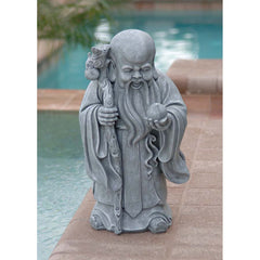 "15"" New Oriental Collectible The Wise One Chinese God of Longevity Statue Sculpture Figurine"