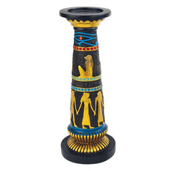"11""Classic Ancient Egyptian Altar Candlestick and Candle"