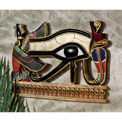 Decorative Egyptian Eye of Horus Wall Sculpture