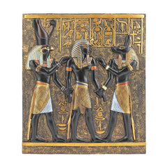 Classic Egyptian Collection Rameses Horus Anubis Wall Plaque Frieze Decor