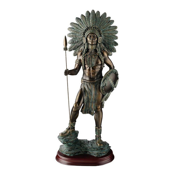 "18"" Large Classic American Indian Chief Sculpture Statue Figurine [Kitchen]"