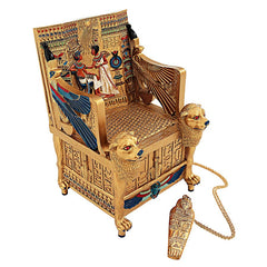 King Tut Golden Throne Treasure Box