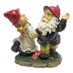 Dancing Couple Italian Gnome Statues Sculpture Figurine