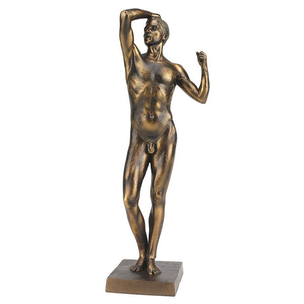 "19"" Nude Bronze Male Statue Sculpture Figurine Inspired By Auguste Rodin"