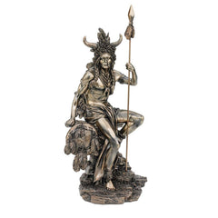 "14"" American Indian Tribal Warrior Hunter Sculpture Statue Figurine"
