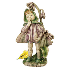 "17"" Victorian Flower Fairy Statue Sculpture Figurine"