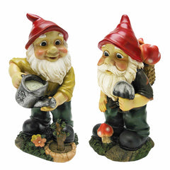 Gulliver and Mushroonie Garden Gnome Statues - Set of 2