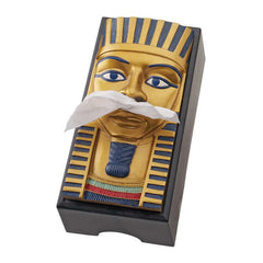 Classic Ancient Egyptian Decorative King Tut Accent Tissue Box Holder Cover