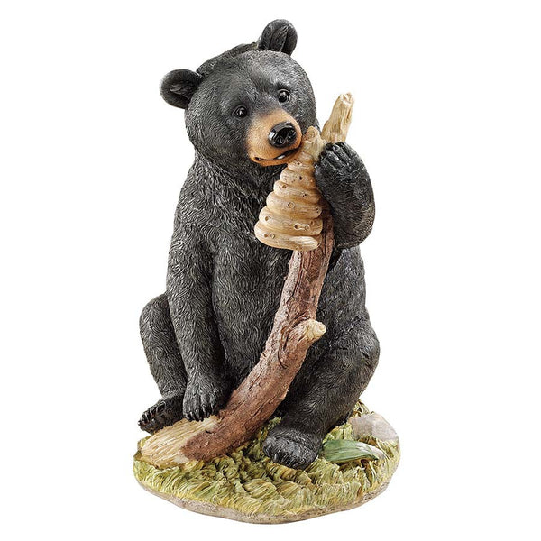 "14"" Wildlife Black Bear Cub Statue Sculpture Figurine"