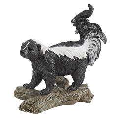 "13"" Classic Wildlife Forest Skunk Home Garden Sculpture Statue"