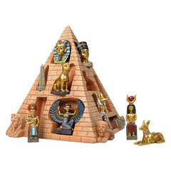 "10"" Egyptian Pyramid Collection Collectible Sculpture Isis Horus Bastet Tut"