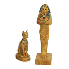 Deities of Ancient Egypt Sculptural Collection: Bastet and King Tut