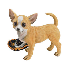 "9.5"" Chihuahua Dog Lovers Sculpture Statue Figurine - Set of 2"