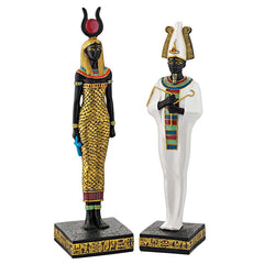 Osiris and Hathor Deities of Ancient Egypt Statues