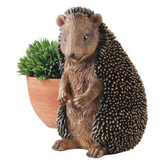 "11"" Spiny African Wildlife Hedgehog Home Garden Desktop Statue Sculpture - Se..."