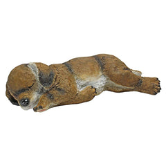 Sleeping Puppy Dog Statue Sculpture