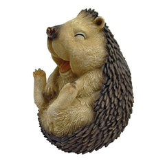 "5"" Wide Cute Spiny Laughing Hedgehog Garden Statue"