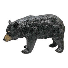 North American Black Bear Walking Statue