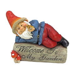 GIDEON THE GARDEN GNOME WELCOME SIGN