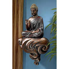 Enlightened Buddha on a Cloud Floating Wall Sculpture