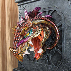 Gothic Dragon Wall Sculpture Statue Figurine
