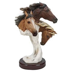Decorative Wild Horse Tabletop Scultpure Statue Large